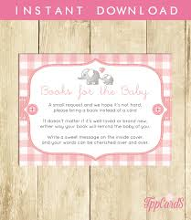 bring a book baby shower invitation insert instead of a card