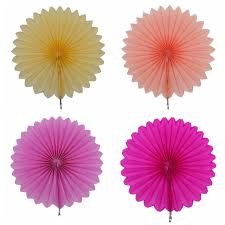 tissue paper fans online shop 5pcs lot decorative tissue paper fans hanging flower