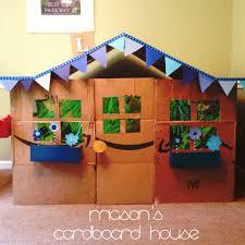 diy playhouse cardboard house toddler playhouse