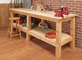 how to build a work table wood work bench home plans