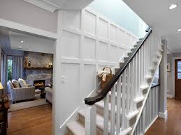 Staining Banister Stairway Staircase Eclectic With Seating Area Curtain Panel Frame