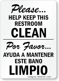 Bathroom Symbols Bilingual Bathroom Signs Spanish Bathroom Signs