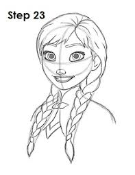 coloring magnificent frozen anna drawing draw 23 coloring
