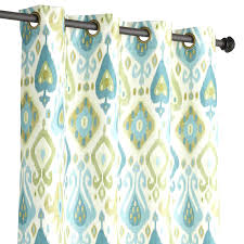 Blue Green Curtains Fascinating Blue Ikat Green Grommet Curtain Fabric By Pics Of