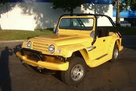 yellow jeep 4 door watercar gator an amphibious vw beetle based jeep lookalike for