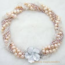 aliexpress pearl necklace images Free shipping new arrival fashion jewelry twisted pearl necklace jpg
