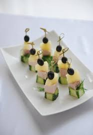canapé cottage small canapes with ham on a skewer stock photo image of cottage