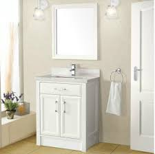 calais 28 inch transitional bathroom vanity white finish wood
