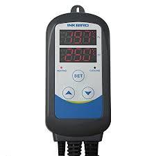 greenhouse thermostat fan control inkbird 100 240v programmable digital thermostat timer sensor dual