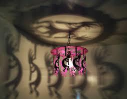 kokopelli neon pink light chandelier gift kokopelli decor