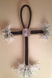 Country Crosses Home Decor by Sold But Can Make Similar Hand Crafted Lariat Cross Wall