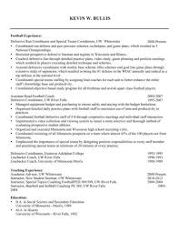Coaching Resume Cool Football Coach Resume 92 For Free Resume Builder With