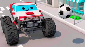 3d monster truck racing monster truck racing in the city cartoon for children 3d cars