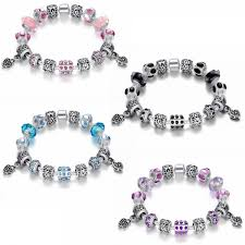 crystal charm bracelet beads images Murano glass crystal charm bracelet fakurma co uk jpg