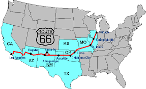 map us highway route 66 noon busters