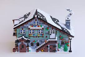 Lego Bedrooms Moc Winter Village Chalet Restaurant And Bedrooms Lego Town