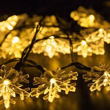 wholesale supplies snowflake 4 8m solar power led string