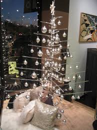 merry modern minimal christmas tree in lucite acrylic is a green