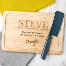 how to engrave a cutting board personalised boyfriend husband cheeky chopping board by dust and