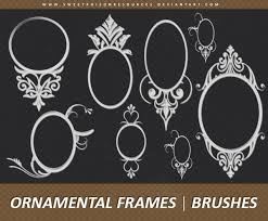 ornamental frames photoshop brushes set photoshop brushes free