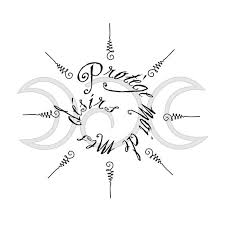 moon goddess symbol tattoos wiccan symbols for protection moon
