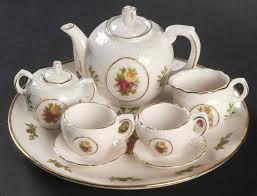 country roses tea set collectible miniature tea sets royal albert country