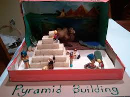 6th grade ancient egypt pyramid building diorama project