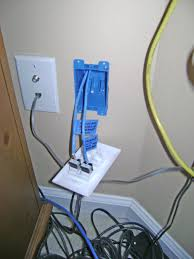 Home Network Closet Design by How To Install An Ethernet Jack For A Home Network Pulling Cable