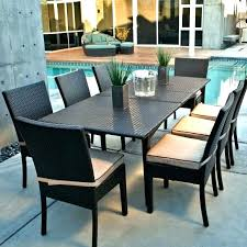 black rectangular patio dining table black outdoor dining table brilliant wicker patio dining sets home