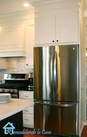 cabinet enclosure for refrigerator building the refrigerator enclosure remodelando la casa