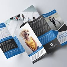 black trifold brochure psd template template free download on pngtree