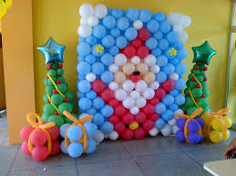 images about christmas balloon decorations arch tree and mural