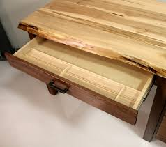 live edge desk with drawers custom walnut maple live edge desk live edge desk amish made