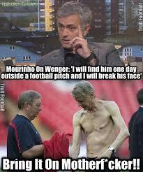 Mourinho Meme - jose mourinho vs arsene wenger soccer memes goal91