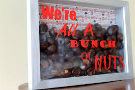 ohio state desk accessories ohio state decor we u0027re all a bunch of nuts shadow box