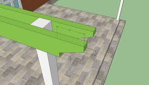 Attaching Pergola To House by How To Build A Pergola Attached To The House Howtospecialist