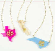 acrylic monogram necklace acrylic state monogram necklace moon and lola initial obsession