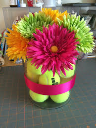 coach u0027s gift tennis ball vase with silk flowers clever crafts