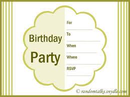 printable invitation card printable invitations