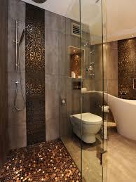 bathroom glass shower ideas brown marble tiled flooring white bath shelving shower ideas for