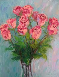 pink dozen with trimmings 11 x 14 oil by ann mccann u2014 ann mccann art