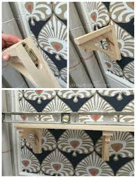How To Build Wooden Shelf Supports by Diy Simple Wood Shelf With Decorative Brackets Jenna Burger