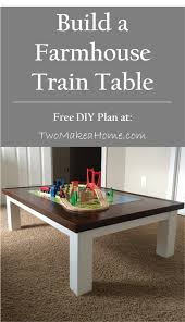 how to build a diy train table two make a home