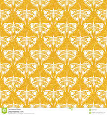 art deco vector pattern with butterflies royalty free stock