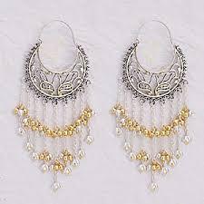danglers earrings design earrings online shopping fashion polki danglers pearl