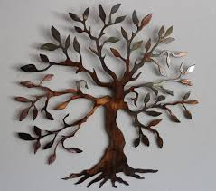 olive tree tree of live metal wall art decor 39 99 via etsy