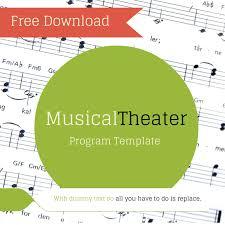 christmas concert program template free musical theater program template u2014 theaterish