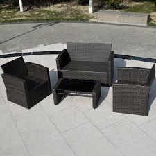 Amazon Patio Furniture Sets - 4pc wicker sofa outdoor patio furniture set