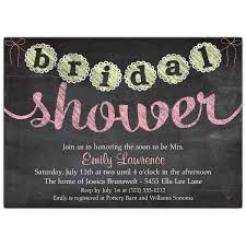 wedding shower invitations chalk banner bridal shower invitations paperstyle