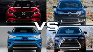 lexus nx and toyota rav4 mazda cx 5 vs honda cr v vs toyota rav4 vs lexus rx youtube